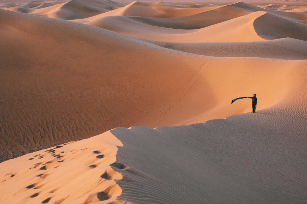 duny, púšť, Maroko